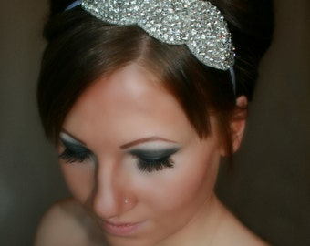 Bridal Headband, Wedding Headband, ARIA, rhinestone headband, bridal hair piece, bridal accessory