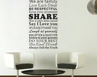 House Rules Decal Etsy - House rules wall decals