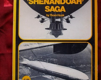 Zeppelin Rigid Airship Shenandoah Saga Thom Hook Helium Book 1973 Flight Flying Dirigible Mooring RARE