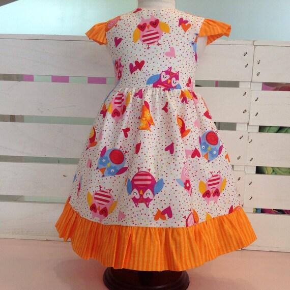 Cute Owl Dress 18 Inch Girl Doll Handmade American