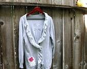 Holiday Sale Grey cardigan. Medium Large X Large 1X