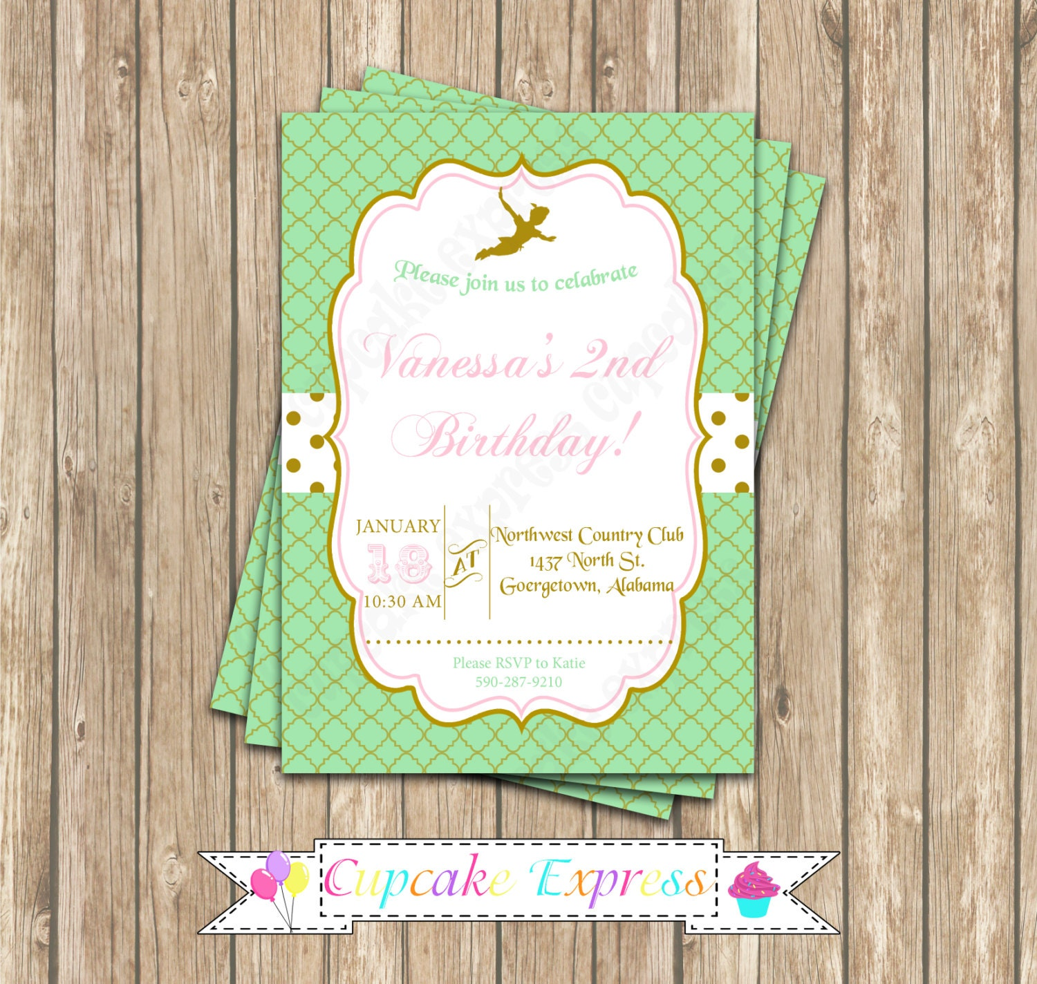 Peter Pan Birthday Party Invitations Image collections - Invitation ...