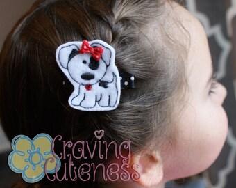 Adorable Puppy Hair Clip - Meet Miss Piper