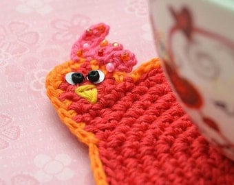 Crochet hen coaster pattern