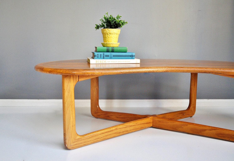 mid century lane kidney coffee table. Black Bedroom Furniture Sets. Home Design Ideas