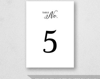 Number Names Worksheets number 1 template printable : Table Number Template Printable INSTANT DOWNLOAD For by 43Lucy