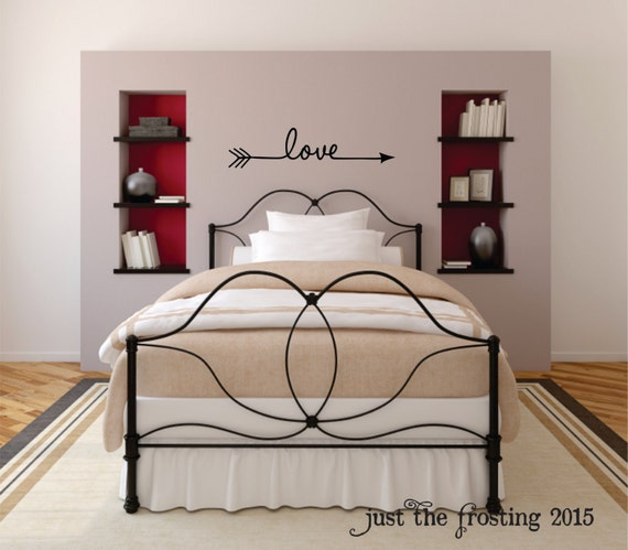 Love Arrow Decal - Arrow Decor - Love Arrow Wall Decal - Loved Arrow Wall Art