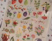 Love Flower Sticker (1 sheet)