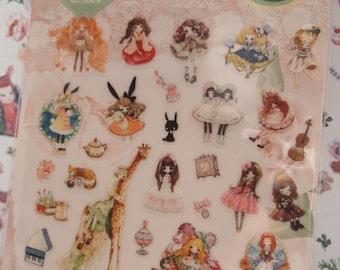 Lolita PVC Sticker (1 sheet)