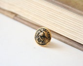 USMC Tie Pin - Nautical Lapel Pin - made with a US Marine uniform button