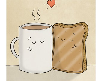 Tea and Toast - Illustration Print
