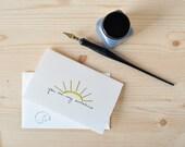 Simple Sunshine Love Card - Cute Valentine - You Are My Sunshine