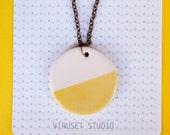 Ceramic necklace jewelry, Minimalist ceramic necklace pendant, Ceramic jewelry, Ceramics & pottery, Ceramic jewellery geometric necklace
