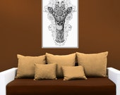 Giraffe Head Wall Decal Sticker – Ornate Jungle Animal Art by BioWorkZ