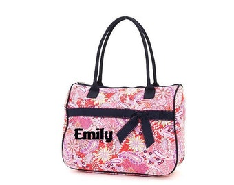 New low price. Quilted Leaf Pattern Large Tote Bag Carry Personalized, embroidered