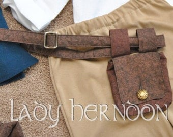 My Accessories: Belt and Pouch - All Children's Sizes and in Black, Brown, or Red