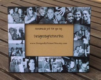 best friends photo collage frame personalized sister gift unique maid of honor picture collage custom bridesmaid gift graduation 5x7