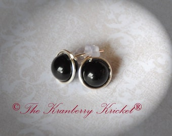 Onyx earrings, Black Onyx, Protection Gemstone, Healing Gemstone, Grounding earrings, Stud earrings, Onyx post earrings, Reiki Earrings