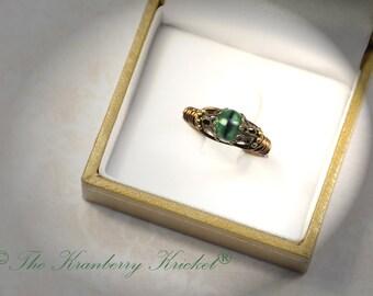 Dragon Eye Ring, Green Eye Ring, Brass Dragon Ring, Bronze Dragon Ring, Mother Daughter Matching Rings, BFF Rings, Custom Sized
