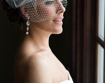 Monica Bridal Earrings || Wedding Earrings, Dramatic Earrings, Long Earrings, Statement Earrings, Sparkly Earrings