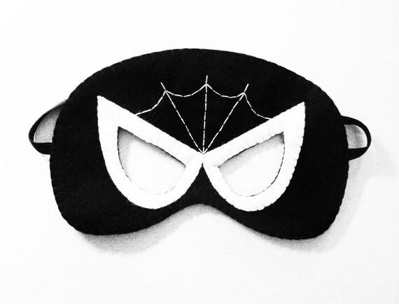 Spiderman schwarze Maske Superhelden weichen Filz Kostüm