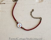 Snowman Face Original Image Michelle Meyer Design Bracelet Pendant Jewelry