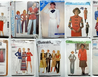 Vintage 1970-80s LOT OF 18 Women's Sewing Patterns