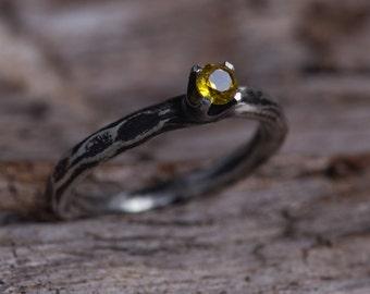 Yellow Topaz Ring-Sterling Silver Golden Topaz Ring-Topaz Stacking Ring-Topaz Jewellery-November Birthstone Rings