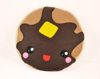 Pancake pillow cushion plushie novelty geekery felt food kawaii happy