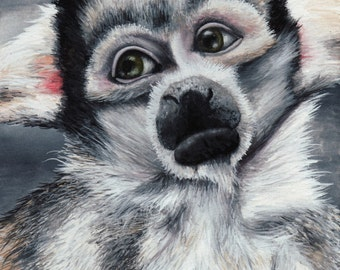 Limited Edition Print of Original Spider Monkey Watercolor Painting