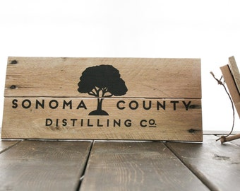Custom wood signage with your logo