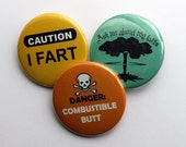 Fart Enthusiasts & Farters: 1 PINBACK BUTTON