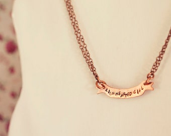 Florence + the Machine lyric // Copper handstamped necklace // Made to order // Can be personalised