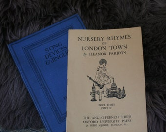 English Children's Rhymes - Lyrics & Musical Score - London Boroughs - Vintage Nursery Playground Ditties Jingles Song Devices