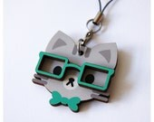 Grey Kitty - Deluxe Wooden Charm