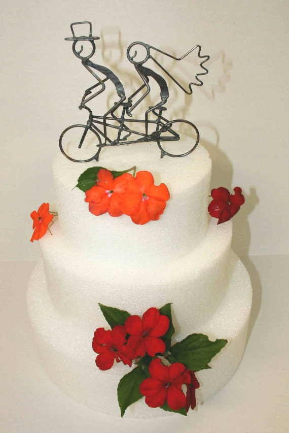 tandem bicycle wedding cake topper and groom tandem bike wedding cake topper 20752