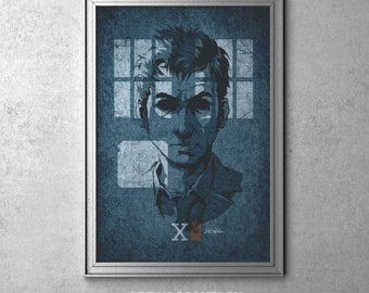 X - Doctor Who - David Tennant as The Tenth Doctor - I'm The Doctor Series - Original Art Poster