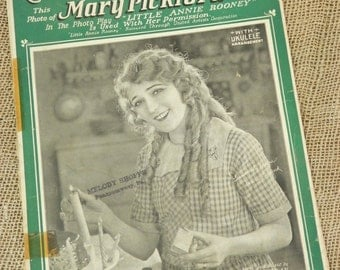 Little Annie Rooney with Mary Pickford Vintage 1925 Piano Sheet Music with Ukulele Arrangement