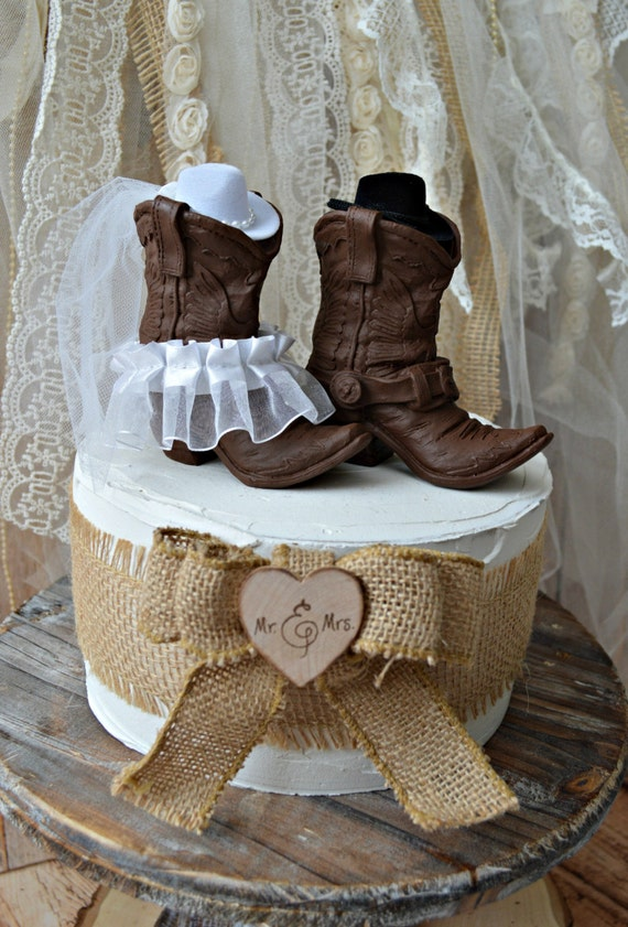 cowboy themed wedding cake toppers western wedding cowboy boot cake topper and 13026