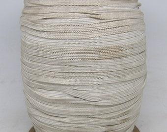 Large spool thin white elastic