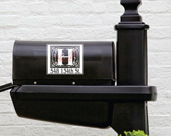 Personalized Mailbox Decal - Small Decal - Name Wall Decal - Front Door Personalized Decal - Fancy Personalized Decals