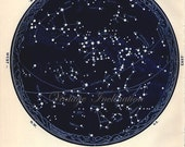 1934 Vintage Star maps 7 8 Southern April May June astronomy zodiac stars chart maps constellation