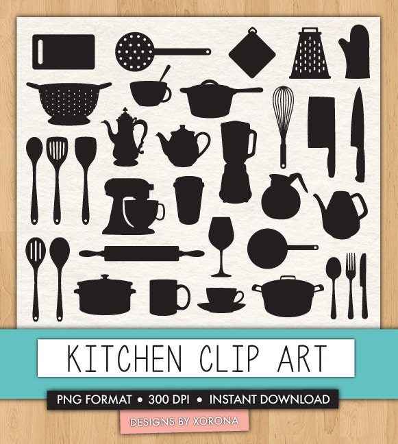 Kitchen Appliances Clip Art ~ Kitchen clip art utensils appliances by aestheticaddiction