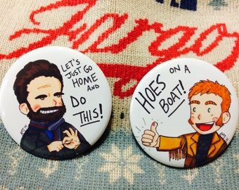 Fargo 2.25-inch Mr. Wrench & Mr. Numbers Pinback Buttons