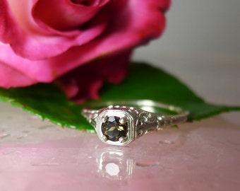 Graduation Ring, Custom Graduation Ring, Custom made ring, Smokey Quartz,  Graduation Jewelry, Smokey Quartz Ring, Black Gemstone RIng