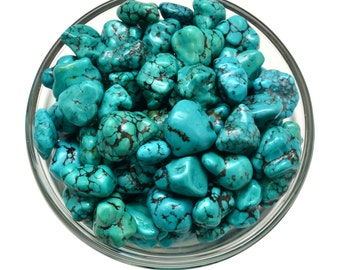 1 Genuine Small TURQUOISE Nugget Tumbled Stone Healing Crystals and Stone Jewelry & Craft Supplies #TN01