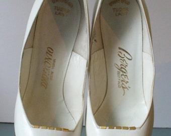D'Antonio Leather Stiletto Heel Shoes 7.5