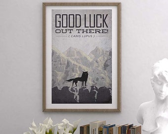 "Fantastic Mr. Fox, Good Luck Out There Wolf (13""x19"") Movie Poster Print, Fan Art"