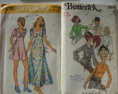 Lot of 6 Uncut Womens Patterns 1970s  Great Styles