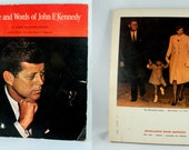 The Life and Words of John F. Kennedy paperback Scholastic book 1965 vintage JFK